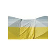Inter-locking tent - Ground Tent, yellow and white, 6' x 6' x 6' H